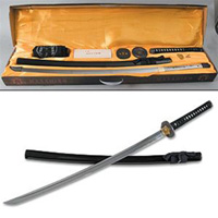 Masahiro Hand Forged Katana Assembly Kit - Black