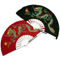 Metal Dragon Fighting Fan
