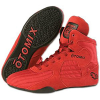 Otomix Stingray Boot Wrestling Shoes - Red / Black