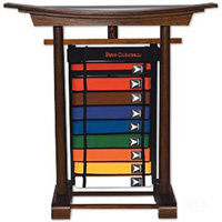 10 Level Karate Belt Display - Freestanding