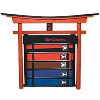 6 Level Karate Belt Display - Wall Mount
