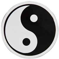Yin Yang Window Cling - 3-1/2