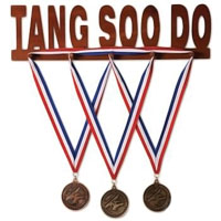 Wooden Medal Display - Tang Soo Do