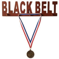 Wooden Medal Display - Black Belt