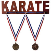 Wooden Medal Display - Karate