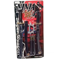 Plastic Ninja Toy Set
