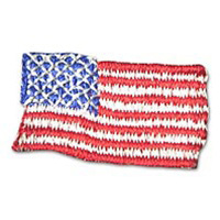 American Flag Adhesive Patch - 1/2