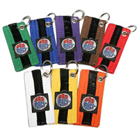 ProForce Black Striped Belt Keychains