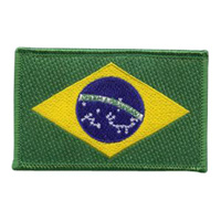 Brazilian Flag Patch - 2-1/4