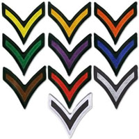 Chevron Striped Patches