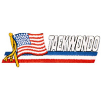 Flag Patch - Taekwondo - 4-1/2