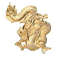 Gold Dragon Pin