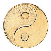 Gold Yin Yang Pin