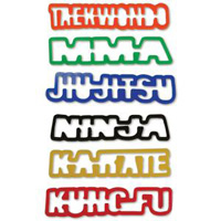Karate Kraze Silly Bands - Word Shapes