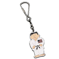 Karate Man with USA Flag Keychain