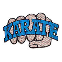 Karate Fist Patch - Blue - 4