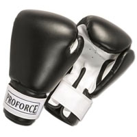 ProForce Leatherette Boxing Gloves - Black / White