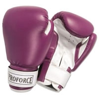 ProForce Leatherette Boxing Gloves - Purple / White
