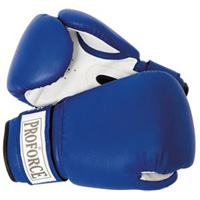 ProForce Leatherette Boxing Gloves - Blue