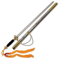 Lion Head Tai Chi Sword with Stainless Steel Scabbard