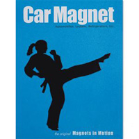 Martial Arts Magnet - Female Kicker