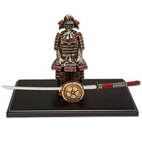 Red Samurai with Letter Opener