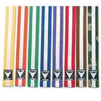 ProForce Thunder White Stripe Double Wrap Karate Belts