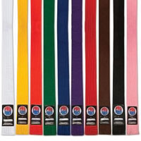 ProForce Thunder Solid Double Wrap Karate Belts