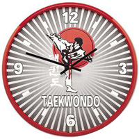 TKD Martial Arts Clock