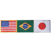 USA / Brazil / Japan Patch - Large - 12