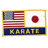 USA & Japan Flags / Karate Patch - 4