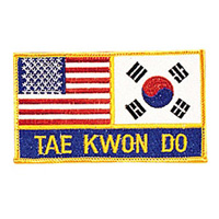USA & Korea - Tae Kwon Do Patch - 4