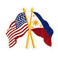 USA / Philippine Flags Patch - 4