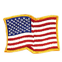USA Waving - Gold Border Patch - 4