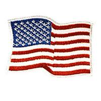 USA Waving - White Border - 4