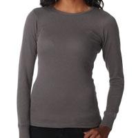 Women's Long Sleeve Thermal - Dark Grey