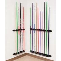 Wooden Bo Staff Wall Display Rack