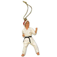 Christmas Ornament Figurine - Karate Left Kick