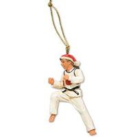 Christmas Ornament Figurine - TKD Jump Kick