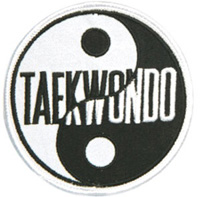 Yin & Yang Patches - Taekwondo - 3-1/2
