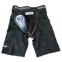 Shock Doctor BasiX Compression Shorts w/ Protective Flex Cup