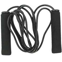 Tiger Claw Black PVC Jump Rope