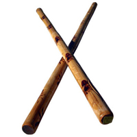 Tiger Claw Skinny Burned Rattan Escrima Stick