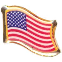 Tiger Claw US Waving Flag Pin