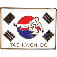 Tiger Claw Korean Flag Taekwondo Pin