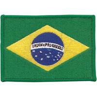 Tiger Claw Brazilian Flag Patch - 3.875
