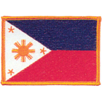 Tiger Claw Phillipines Flag Patch - 3 1/2