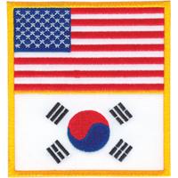 Tiger Claw USA & Korea Flag Patch - 3 1/2