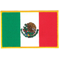Tiger Claw Mexican Flag Patch - 3 1/2