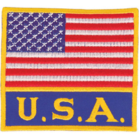 Tiger Claw American Flag with USA Patch - 3 1/2